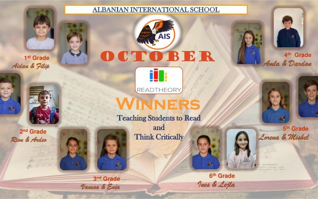 AIS October Read Theory Winners
